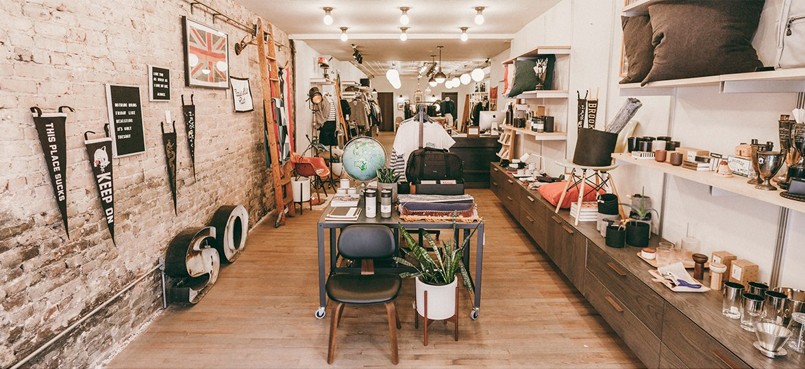 Modern Anthology in Brooklyn is a perfect spot to grab clothing, grooming and accessories in a store that you won't want to leave