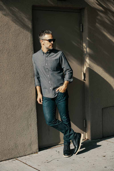 Business casual style in The Lou Black boot
