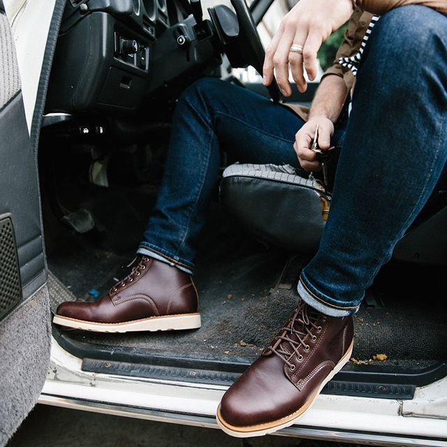 mens casual brown boots to wear with jeans