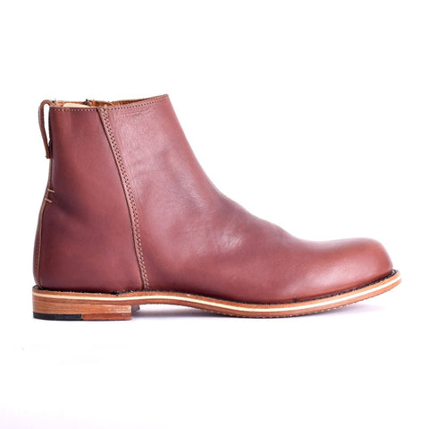 mens slip on leather boots
