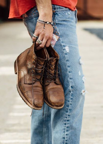 mens casual boots for jeans