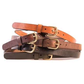 HELM Boots Accessories Slim Belt - Brass Buckle