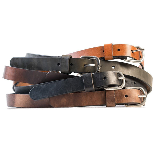 HELM Boots Accessories Slim Belt - Silver Buckle