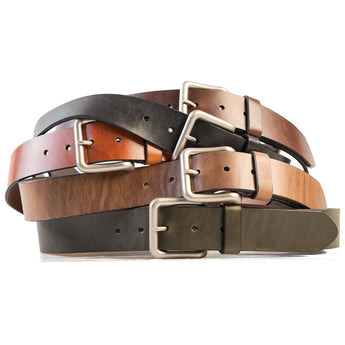 HELM Boots Accessories Wide Belt - Silver Buckle