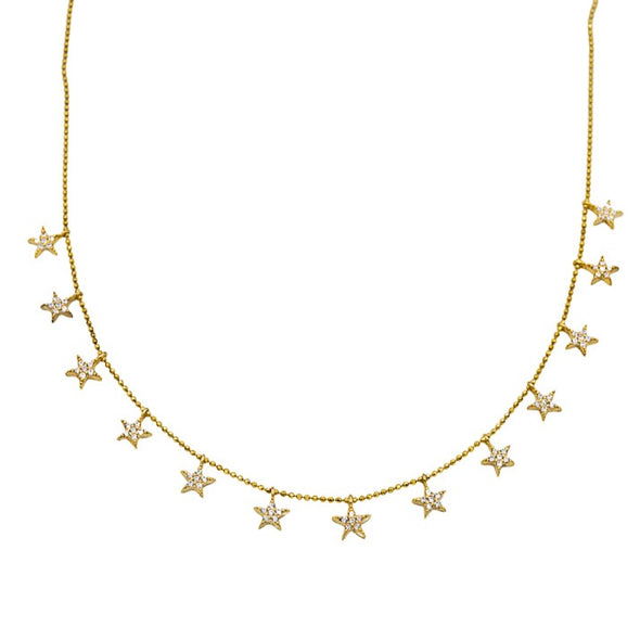 Mutli Star Drop Necklace