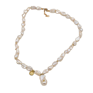 Pearl Choker with Pearl Charm