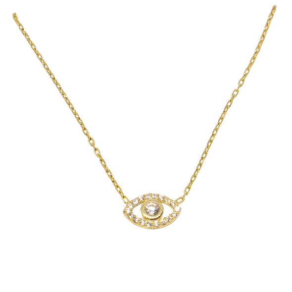 CZ Stones Evil Eye Necklace