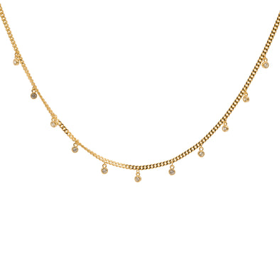 Dainty Dangling Stones Necklace