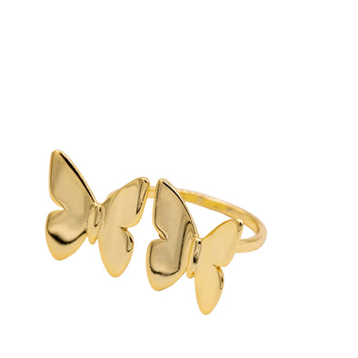 Double Gold Butterfly Ring