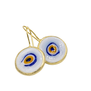 Glass Evil Eye Earrings