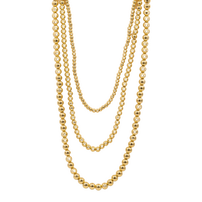 14k Gold Filled Beaded Necklace
