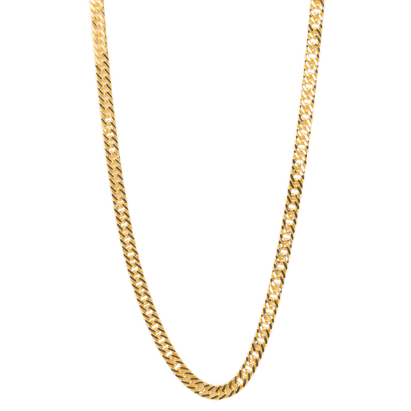 14K Gold Filled Cuban Chain Link Necklace