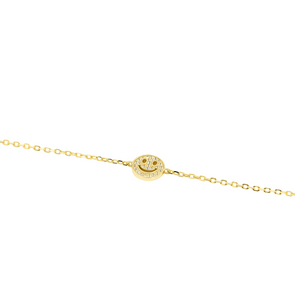CZ Studded Smiley Face Bracelet