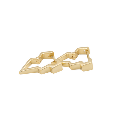 MINI GOLD LIGHTNING EARRINGS
