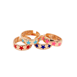 The Enamel Spring Star Ring