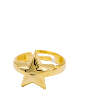 Chunky Gold Star Ring