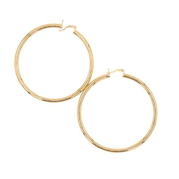 18K Gold Filled Extra Large Hoops