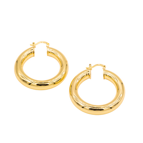 18K Gold Filled Thick Hoops B