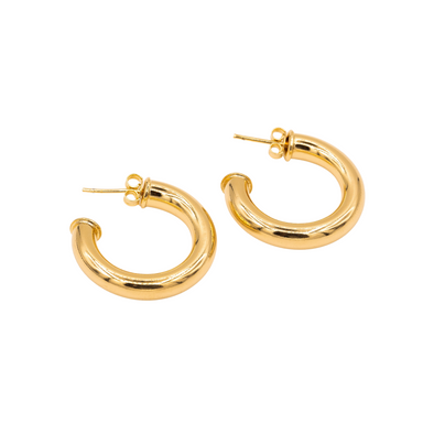18K Gold Filled Hoops D