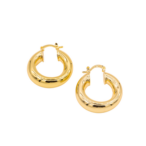 18K Gold Filled Thick Hoops