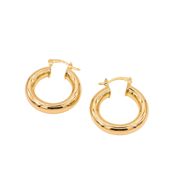 18K Gold Filled Hoops E