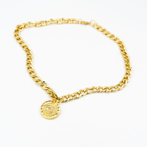 The Gold Chain Aztec Eye Necklace