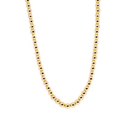 18k Gold Filled Ball Necklace