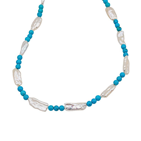 Pearl and Turquoise Choker