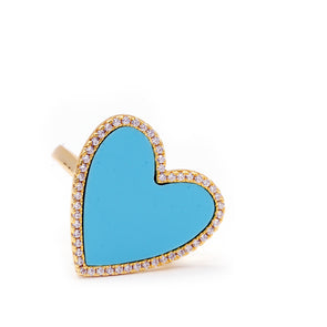 CZ Large Heart Ring