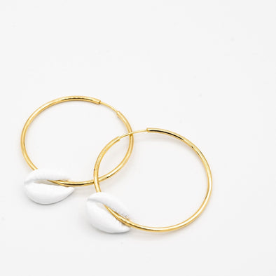 Shell Hoops - Hannah B by Hannah Bender