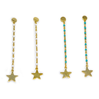 The Beaded Star Earrings - Hannah B by Hannah Bender