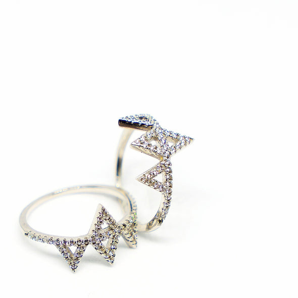 Triangle Rings - Hannah B by Hannah Bender