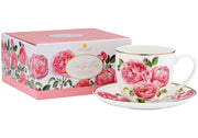 Heritage Rose Teacup & Saucer