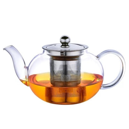 Glass Tea Pot with metal infuser