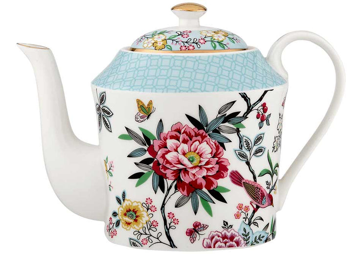 Jardin Peony Teapot with Metal Infuser