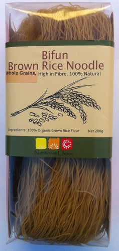 Noodles - Organic Bifun Brown Rice, Nutritionist Choice, Gluten-Free, 200g
