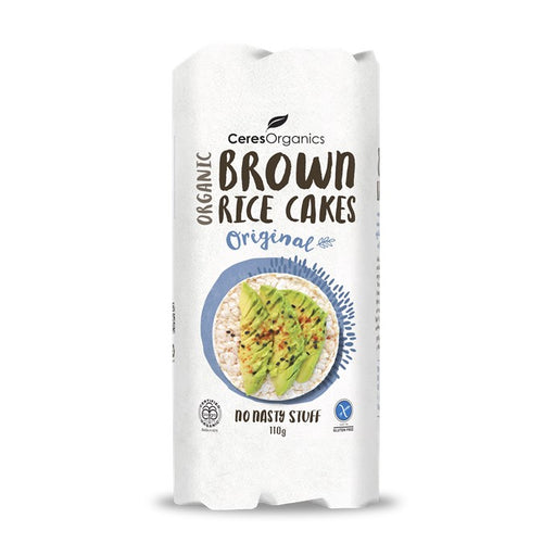 Rice Cakes - Brown Original, Ceres Organic, 110g