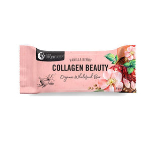 Energy Bar - Nutra Organics Collagen Beauty Bar, Vanilla Berry, 30g