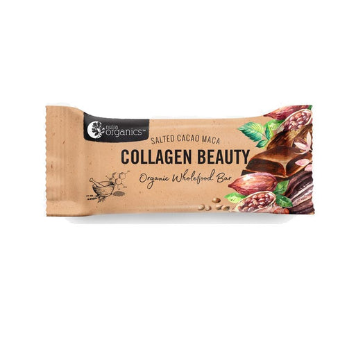 Energy Bar - Nutra Organics Collagen Beauty Bar, Salted Cacao Maca, 30g