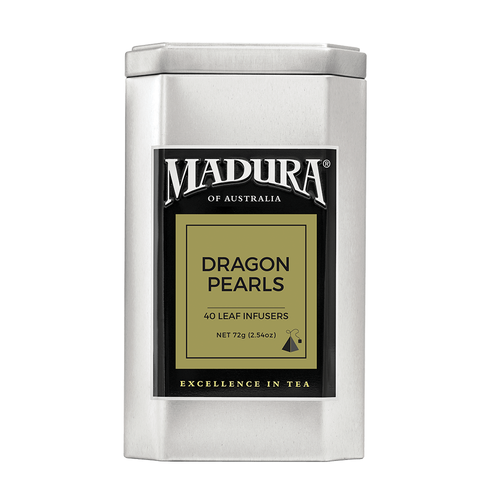 Green Tea - Dragon Pearl, Madura, 40 Leaf Infusers