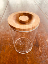 Load image into Gallery viewer, Glass Storage Jar - 1L, Wooden Lid (GSW)