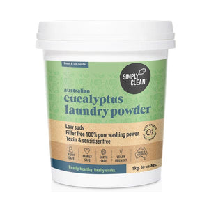 Laundry Powder - Simply Clean, Eucalyptus with Oxygen Stain Remover, Bulk
