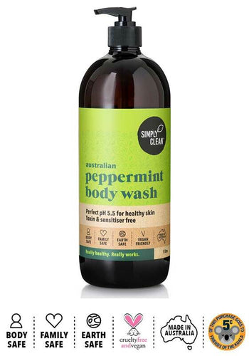 Body Wash - Simply Clean, Peppermint REFILL, Bulk