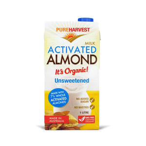Almond Milk - Organic Unsweetened Activated, 1 Ltr