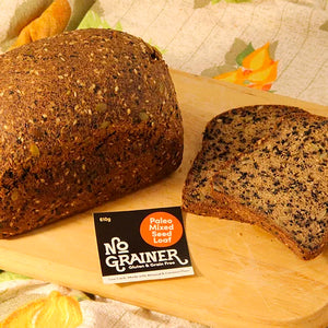 Bread - Mixed Seed Loaf, No Grainer, Gluten-Free Paleo