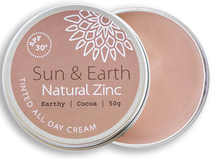 Zinc - SPF30+ Tinted All Day Cream, Sun & Earth, 50g