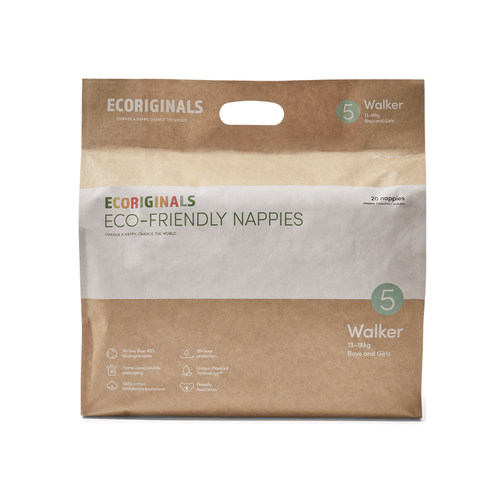 Nappies - Ecoriginals, Walker, 13 - 18 Kg (20 pack)
