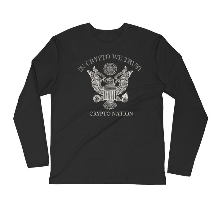 In Crypto We Trust Long Sleeve Fitted Crew