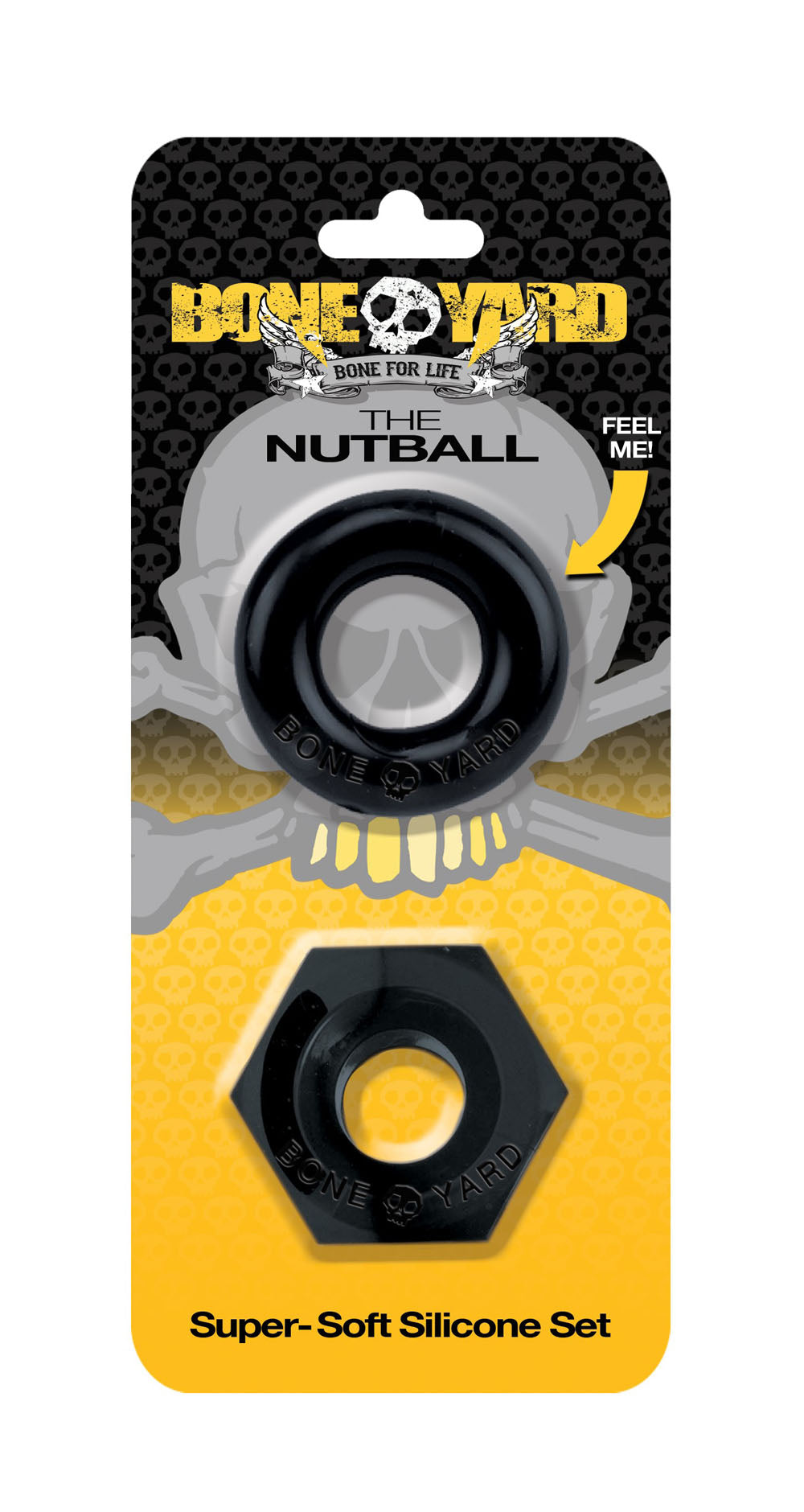 Boneyard the Nutball Cock Ring Set - Black BY-0460