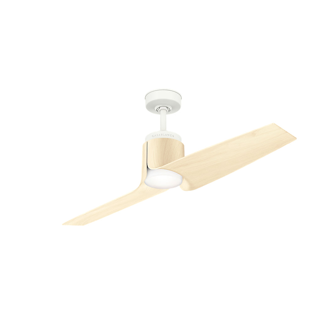 Aya Outdoor 59337 - 54in Porcelain White w/White Ash Blades